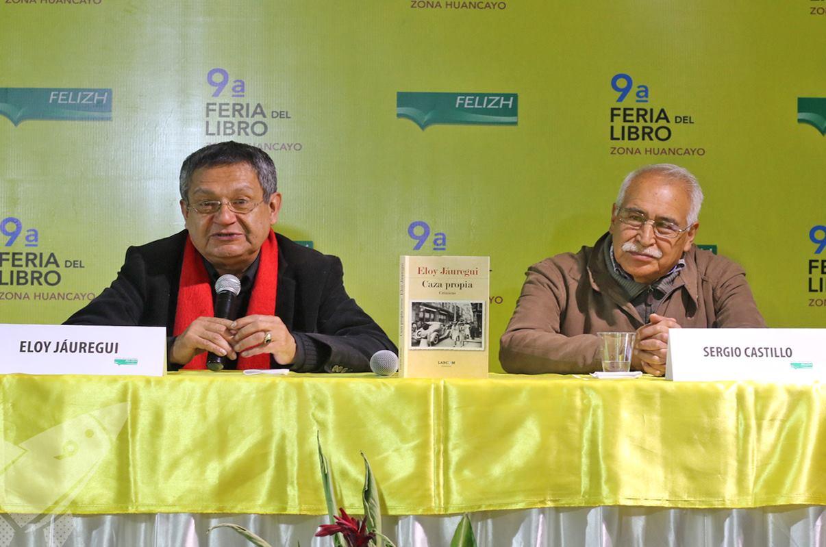 Eloy Jáuregui y el poeta Sergio Castillo