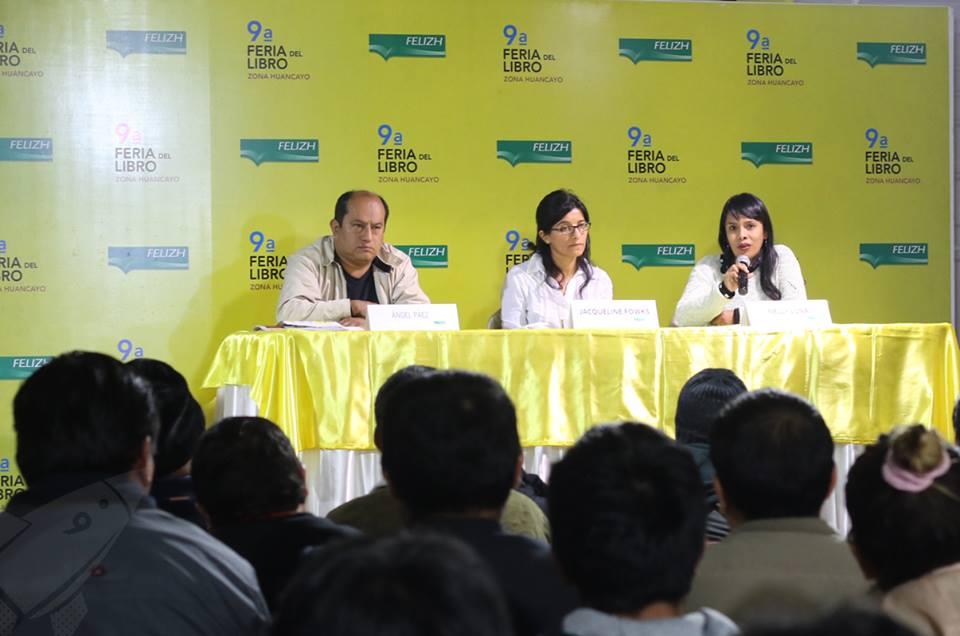 Ángel Paez, Jacqueline Fowks y Nelly Luna.