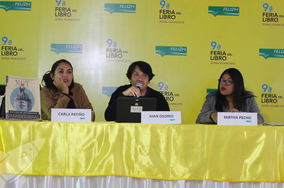 Juan Osorio, Carla Patiño y Mirtha Pecho.
